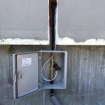 Табло с автоматичен вентил за спиране на потока на газа, при засечено изтичане на газ от газсигнализатора